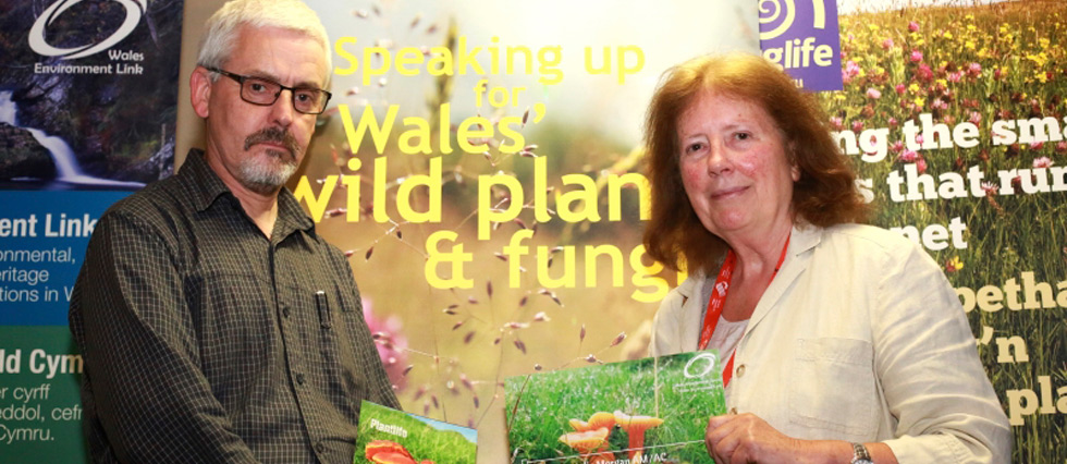 Julie Morgan AM with Head of Plantlife Cymru Colin Cheesman