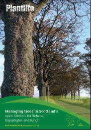 Managing trees in Scotland's open habitats for lichens, bryophytes and fungi