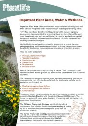 Important Plant Areas, Water and Wetlands