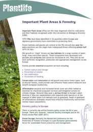 Important Plant Areas and Forestry